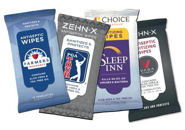 Zehn-X Wipes Custom Labels